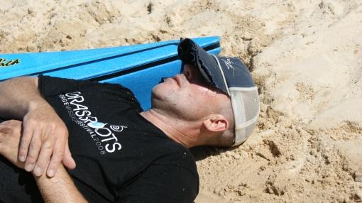 After a long sand dune run!