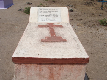 Epitaph Reads: This little life will pass, only that done for Christ will last.