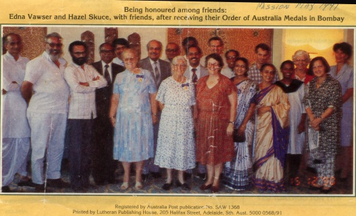 Edna and Hazel recieve OAM in India