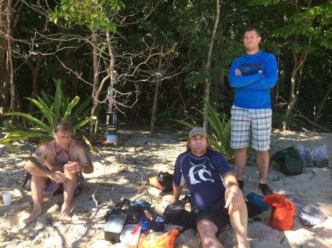 Chilling at Whitsunday Cairn Beach