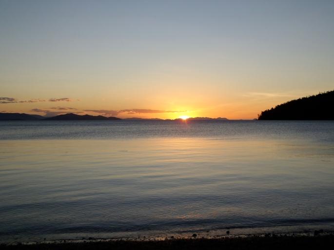 Sunset on Night one