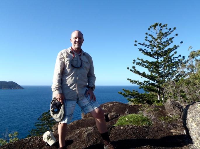 Scott on Peak Near Crayfish Beach